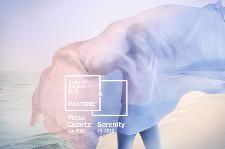 Pantone Colors of 2016: Rose Quartz and Serenity